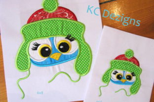Christmas Critter - Owl Christmas Embroidery Design By karen50