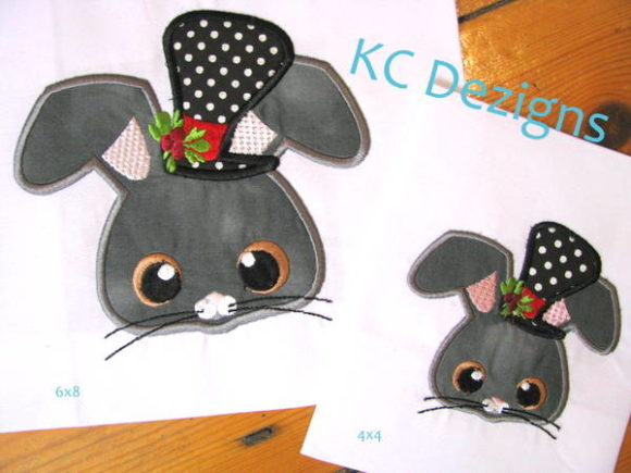 Christmas Mouse with Top Hat Embroidery
