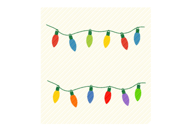 Print on Demand: Christmas Lights String Lights Graphic Graphic Crafts By SVGPlaceDesign