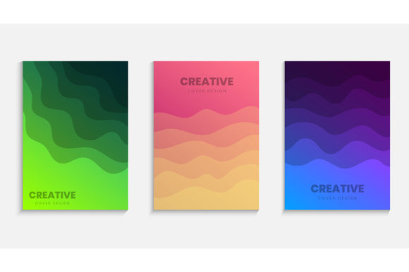 Colorful Halftone Gradients Template Set Graphic Backgrounds By medelwardi
