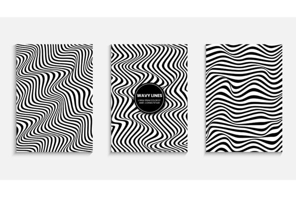 Cover Design with a Striped Background Graphic Backgrounds By medelwardi