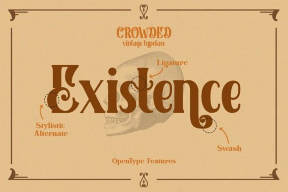 Print on Demand: Crowded Display Font By Din Studio - Image 13