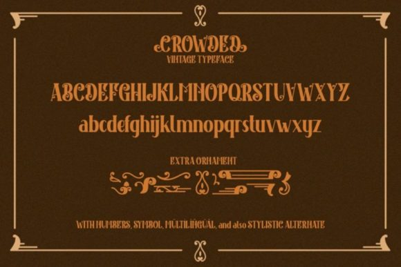 Print on Demand: Crowded Display Font By Din Studio - Image 14