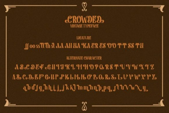 Print on Demand: Crowded Display Font By Din Studio - Image 15