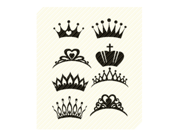 Print on Demand: Crowns Tiaras Royal Bundle Set Graphic Crafts By SVGPlaceDesign