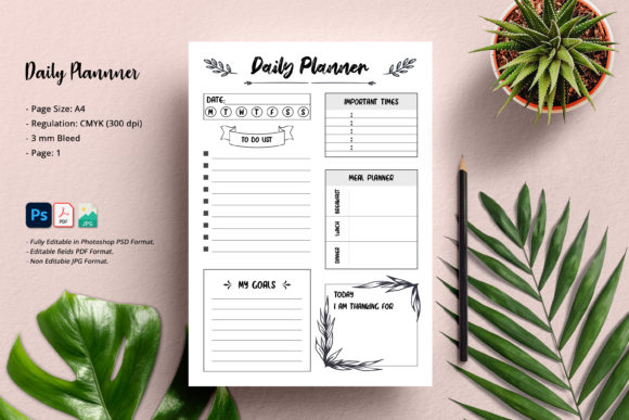 Print on Demand: Daily Planner Graphic KDP Interiors By SmmrDesign