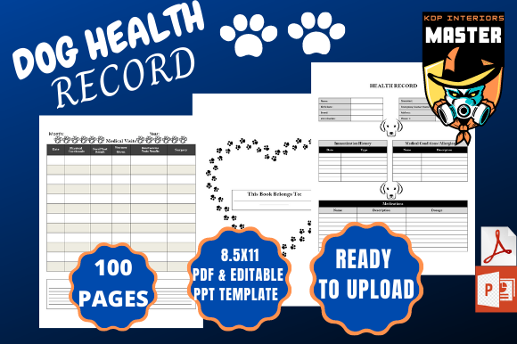 Pet Record Template from www.creativefabrica.com