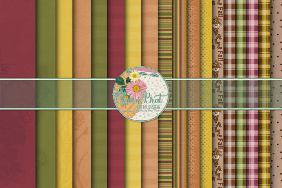 Print on Demand: Fall Splendor Papers Graphic Backgrounds By QueenBrat Digital Designs