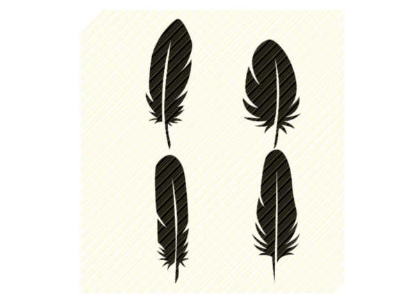 Print on Demand: Feathers Set Bundle Graphic Graphic Crafts By SVGPlaceDesign