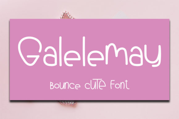 Print on Demand: Galelemay Display Font By FL Space
