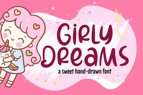 Print on Demand: Girly Dreams Dingbats Font By Create Big Supply