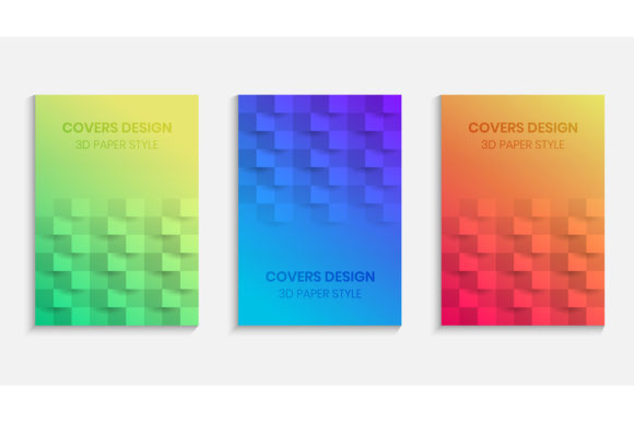 Gradients Background with 3d Paper Style Graphic Backgrounds By medelwardi