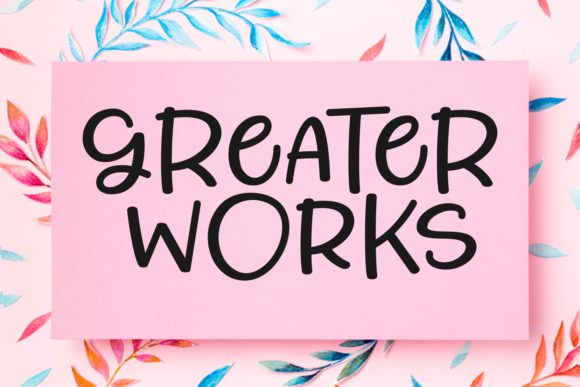 Print on Demand: Greater Works Script & Handwritten Font By Keithzo (7NTypes)