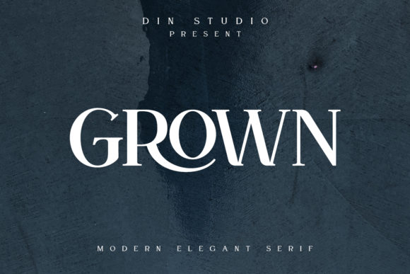 Print on Demand: Grown Serif Font By Din Studio