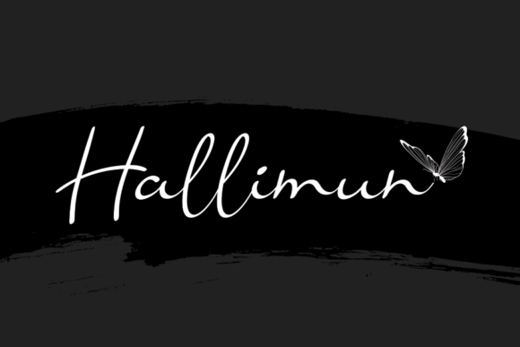 Print on Demand: Hallimun Script & Handwritten Font By andikastudio