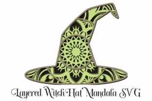 Halloween Witch's Hat Layered Mandala Graphic 3D SVG By Digital Honey Bee