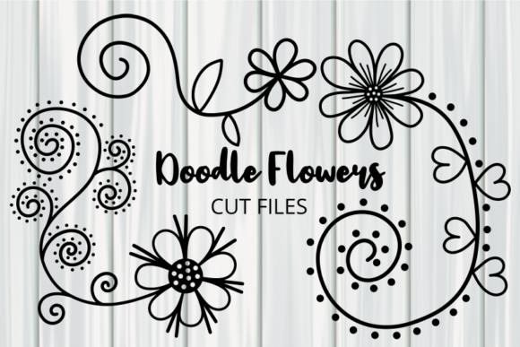 Hand Drawn Doodle Daisy Flower Cut Files Graphic
