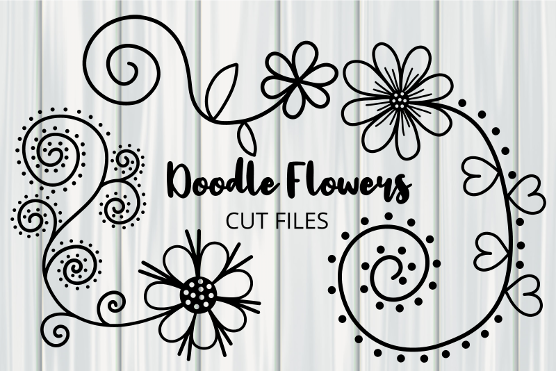 Hand Drawn Doodle Daisy Flower Cut Files SVG File