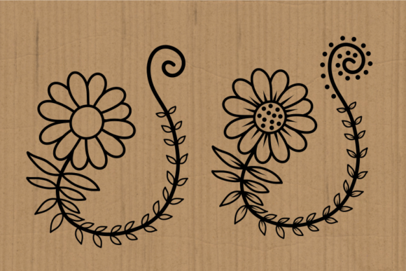 Hand Drawn Doodle Daisy Flower Cut Files Graphic Item