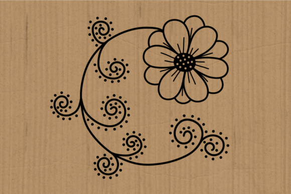 Hand Drawn Doodle Daisy Flower Cut Files Graphic Image