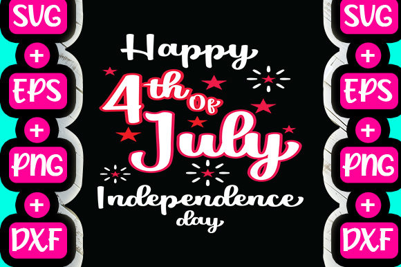 Print on Demand: Happy 4th of July Independance Day Graphic Print Templates By svg.in.design
