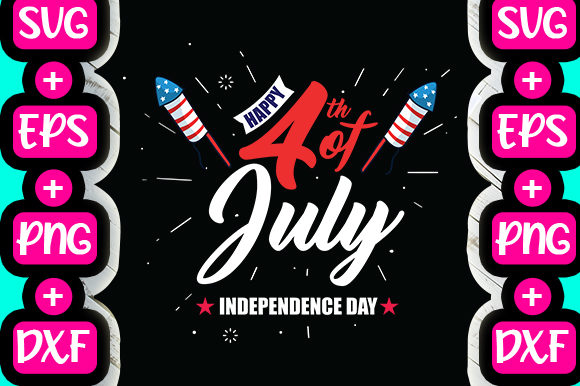 Print on Demand: Happy 4th of July Independence Day Graphic Print Templates By svg.in.design
