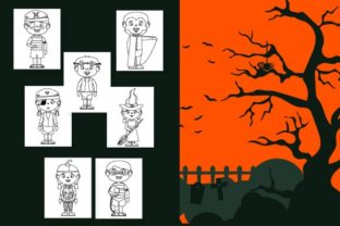 Print on Demand: Happy Halloween Coloring Pages for Kids Graphic Coloring Pages & Books Kids By Mah Moud