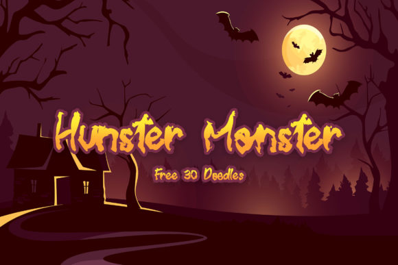 Print on Demand: Hunster Monster Display Font By Juncreative