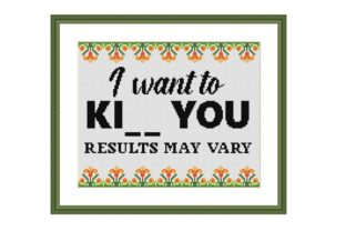 Print on Demand: I Want to Ki. Funny Cross Stitch Pattern Graphic Cross Stitch Patterns By Tango Stitch