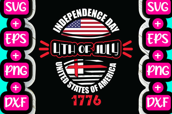 Print on Demand: Independence Day 4th of July USA Graphic Print Templates By svg.in.design
