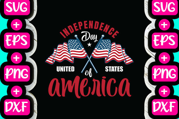 Print on Demand: Independence Day United States of America Graphic Print Templates By svg.in.design