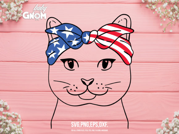 July 4th Cat Graphic Crafts By babyGnom