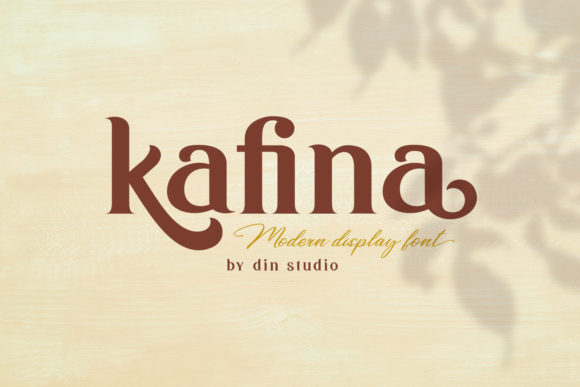 Print on Demand: Kafina Serif Fuente Por Din Studio