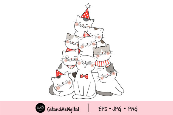 Kawaii Christmas Tree Cute Cat Graphic By Catandme Creative Fabrica Games (minecraft, angry bird, etc), tv shows (descendants, disney, cartoon network characters, etc.) , toys (shopkins, numnoms, etc) and everyday objects (school supplies, etc) can all be found here at draw so cute. kawaii christmas tree cute cat