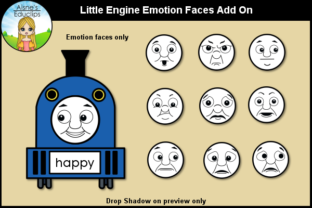 Print on Demand: Little Engine Emotion Faces Add on Graphic Teaching Materials By Aisne Educlips
