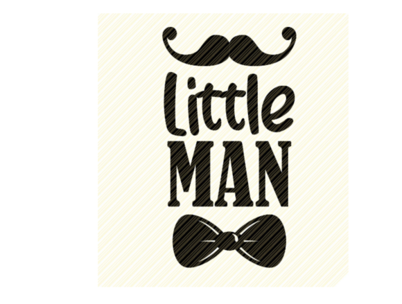 Print on Demand: Little Man Quote Graphic Graphic Crafts By SVGPlaceDesign