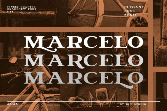 Print on Demand: Marcelo Serif Font By Din Studio