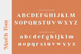 Print on Demand: March Serif Font By Din Studio 15