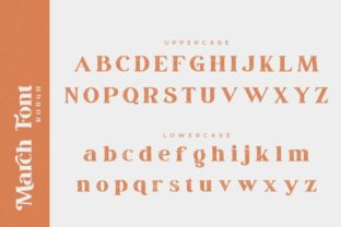Print on Demand: March Serif Font By Din Studio 18