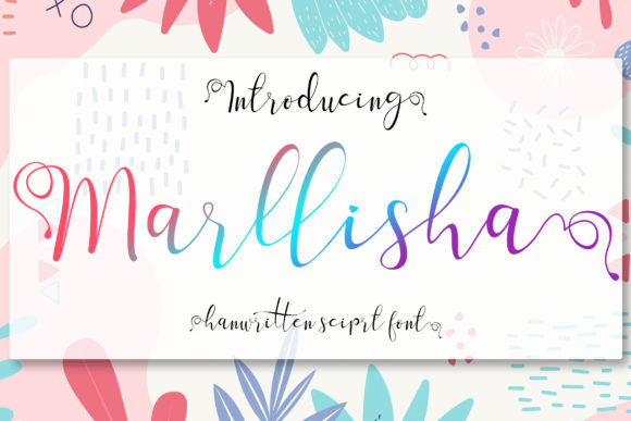 Print on Demand: Marllisha Script & Handwritten Font By aldedesign