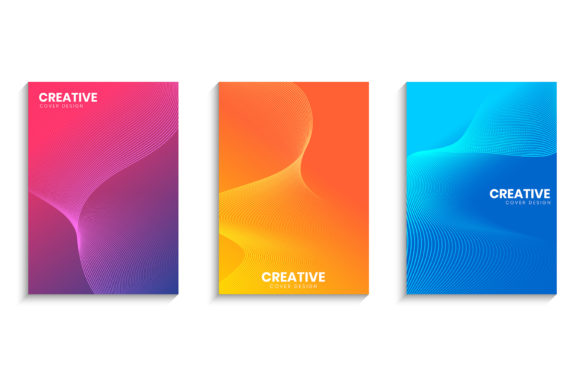 Minimal Cover Design with Wavy Lines Graphic Backgrounds By medelwardi