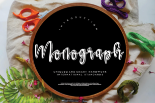 Print on Demand: Monograph Script & Handwritten Font By andikastudio