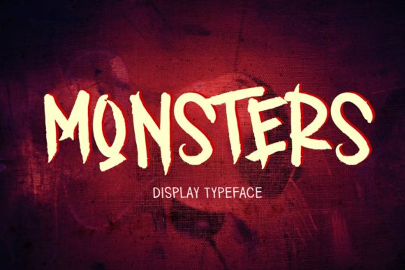 Print on Demand: Monsters Display Font By aminmariostudio