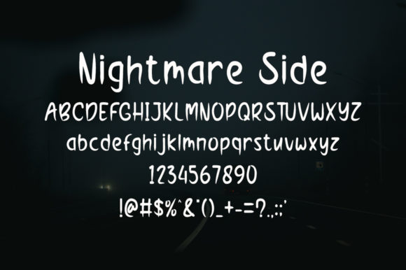 Nightmare Side Font Preview
