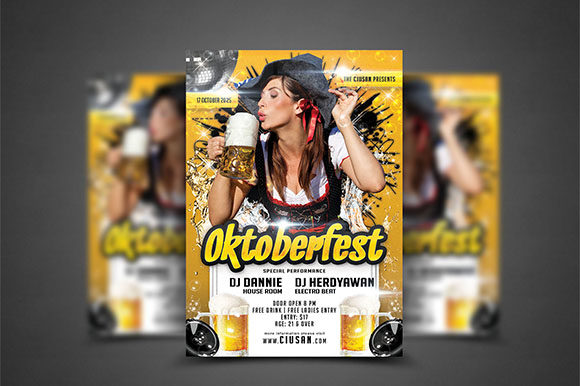 Oktoberfest Flyer Template 6 Graphic Print Templates By Ciusan