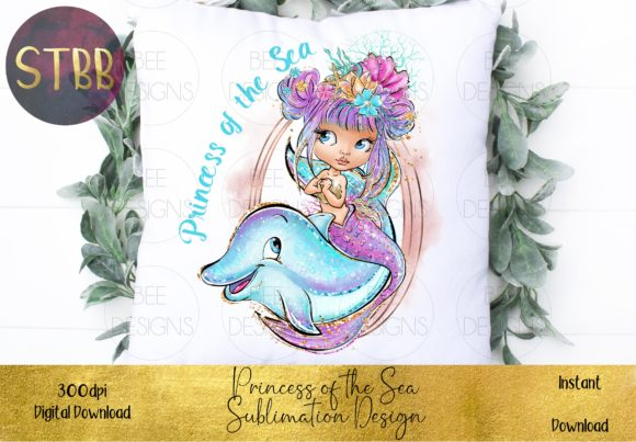 Princess of the Sea Sublimation Design Graphic Item