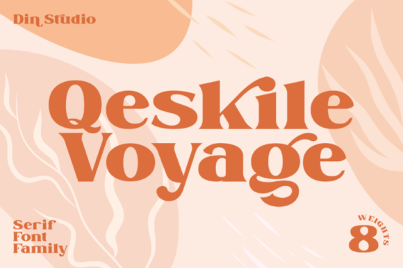 Print on Demand: Qeskile Voyage Serif Font By Din Studio