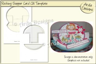 Print on Demand: Rocking Stepper Card Template Graphic Print Templates By Arda Designs
