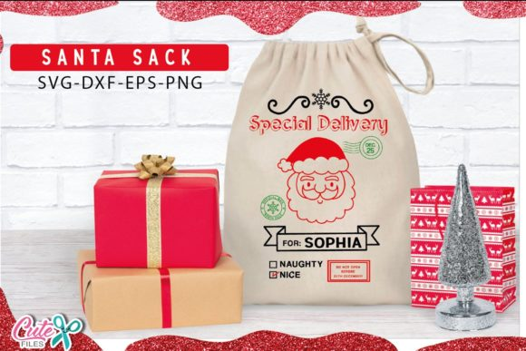 Santa Sack for Christmas  Graphic Illustrations By Cute files