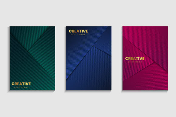 Set of Luxury Cover Background Graphic Backgrounds By medelwardi